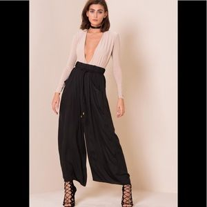 New Zara Black Palazzo Trousers Pants